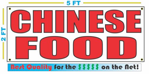 CHINESE FOOD Banner Sign NEW Larger Size Best Quality for The $$$ RESTAURANT