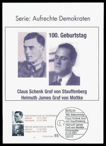 BUND-MK-2007-STAUFFENBERG-MOLTKE-PRIVATE-MAXIMUMKARTE-MAXIMUM-CARD-MC-CM-by63