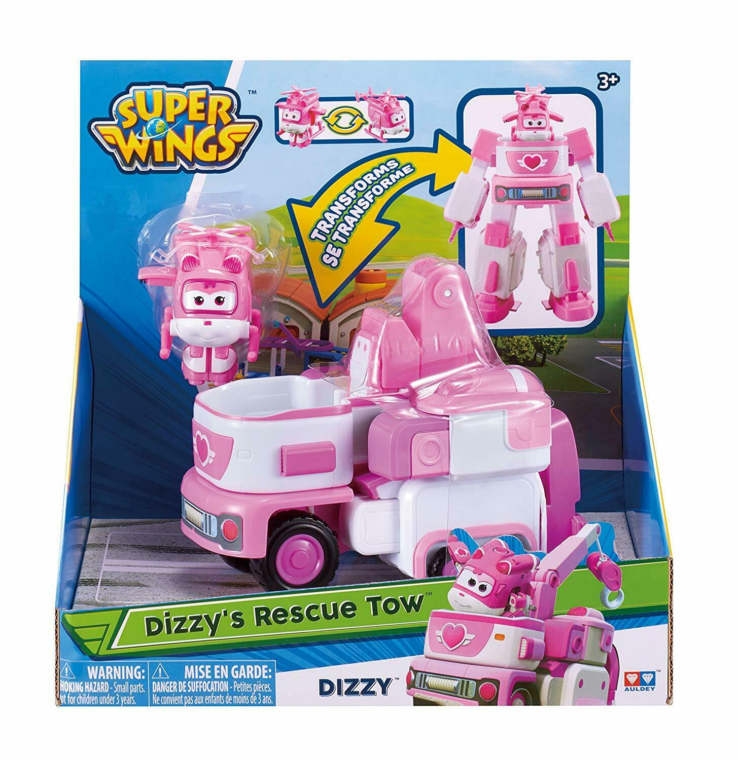 Super Wings Medium Transform Figur 12 cm Flugzeug Transform a Bot Dizzy
