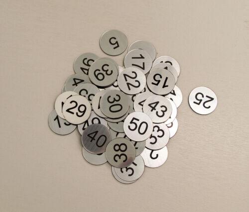 Restaurant Locker Table Pub No hole Tags 70 Laser Engraved Number Discs
