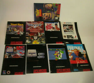 Authentic Original Super Nintendo 9 Instruction Manual Booklet Book Lot SNES