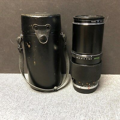 Zuiko 1 w amp; Auto covers 4 System T 200mm f case OM Lens Olympus XqvFEE