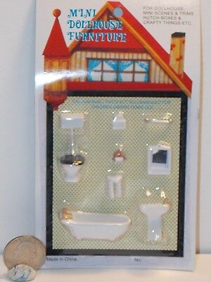 Dollhouse Miniature Bathroom Set 1:48 Quarter Inch scale 1//4  K91 Dollys Gallery