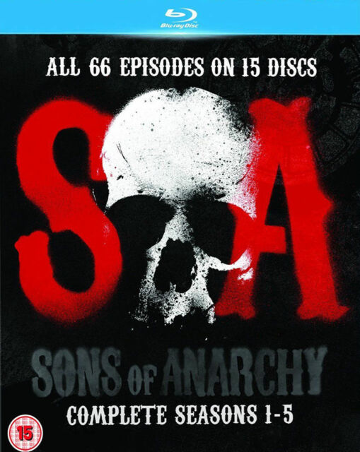 Sons of Anarchy: Complete Seasons 1-5 (15 Blu-ray Disc set, 2013)  Brand NEW