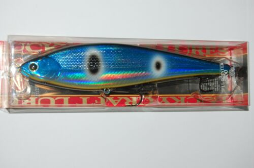 "lucky craft pointer 200 slow sinking 8/"" 2 1//2oz flash blue herring big fish lure"