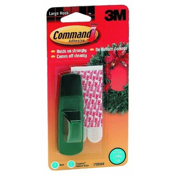 6 Pk 3M 1 1 4  X 3 7 8  X 7 8  Command Green Adhesive Picture Holder 17003GR