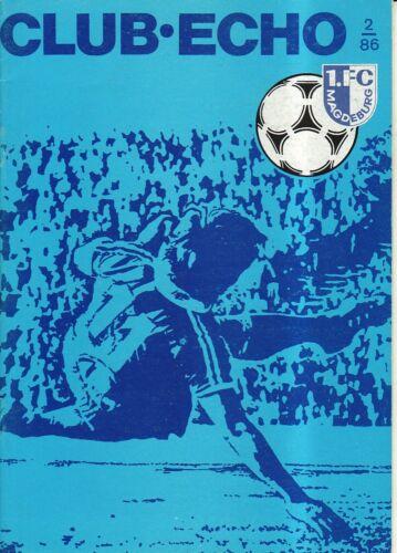 Club-Echo 2//86 OL 86//87  1 FC Magdeburg