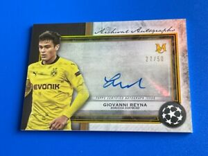 2020-21 Topps Museum Collection UEFA Giovanni Reyna Gold Auto #/50 Autograph