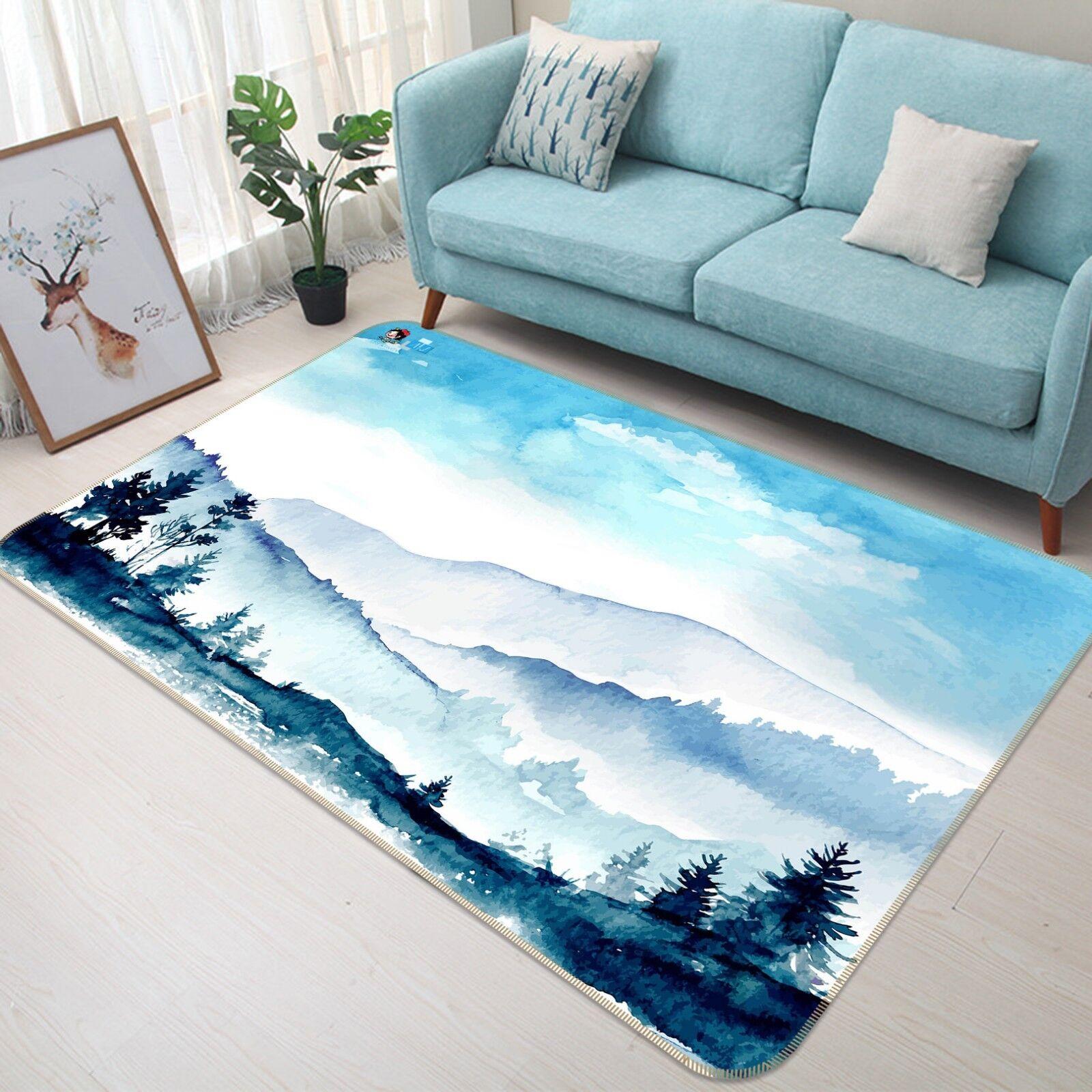 3D Tapis Montagnes Peinture 033 Étage Antidérapant Natte Élégant Tapis 3D FR Tiffany 7835b3