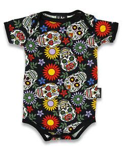 Six Bunnies sugar skull vest alternative baby clothes goth rock ...