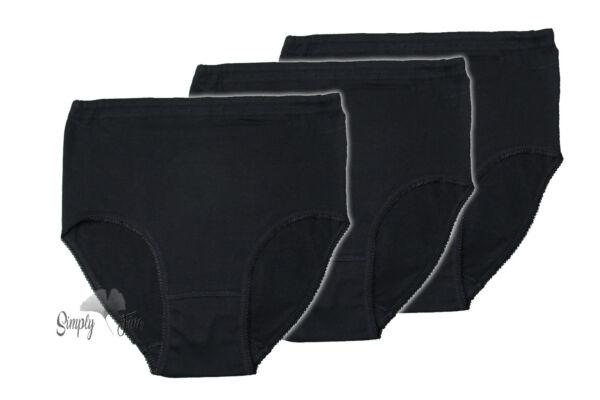 6x Damen Slip Taillenslip ohne Seitennähte in SCHWARZ als Vorteilspack