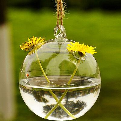 Crystal Hanging Glass Flower Vase Planter Terrarium Container Vase Pot Decor New