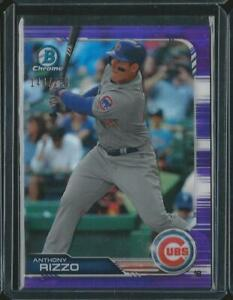 2019 BOWMAN CHROME ANTHONY RIZZO CUBS PURPLE REFRACTOR ...