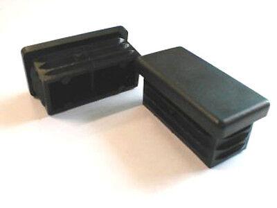 20 x Lamellenstopfen Vierkantrohrstopfen 50 x 50 mm Außen Stopfen SCHWARZ 0.3