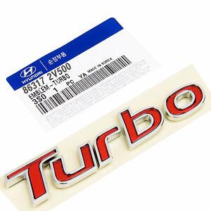 KDM Hyundai /'Turbo/' Trunk Tail Gate Emblem 86317-2V500 GENUINE OEM