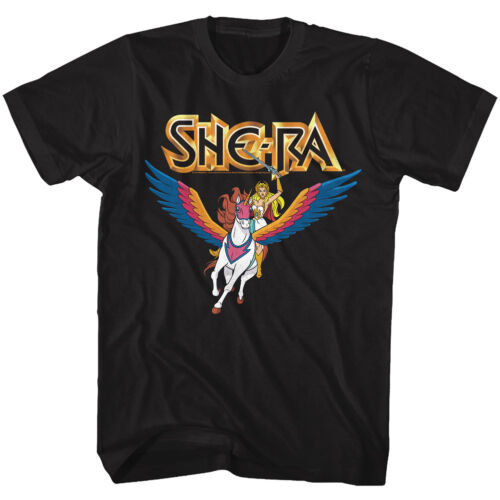 Masters Of The Universe She Ra Princess Of Power Riding Swiftwind Adult T Shirt