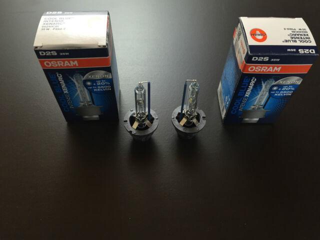 2 X Osram Cool Blue Intense Xenarc D2S 66240CBI 66240 Cbi 35W P32d-2 Xenon Lamp