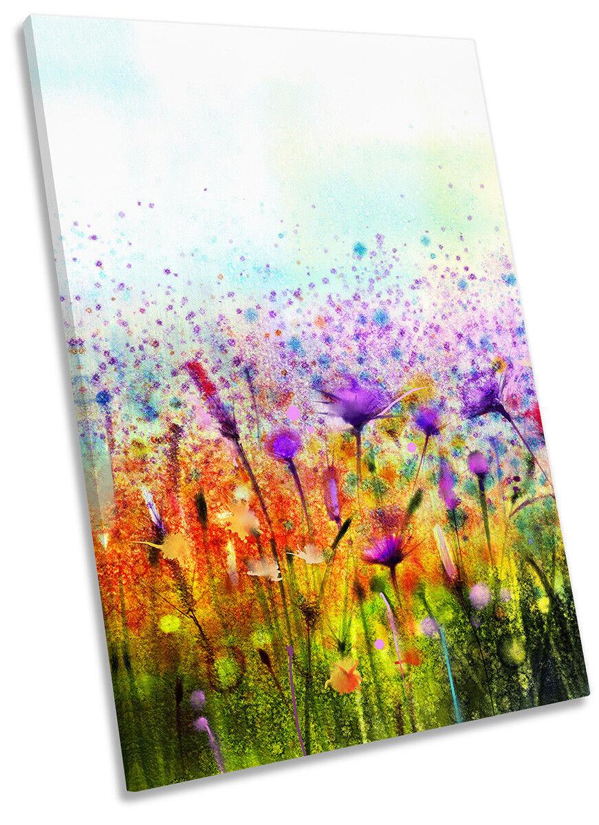 I fiori tropicali floreale a muro OPERA D'ARTE RITRATTO STAMPA ART
