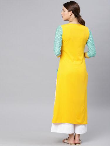 Women Kurta Kurti Indian Bollywood Pakistani Designer Long Tunic Top Dress S 4XL