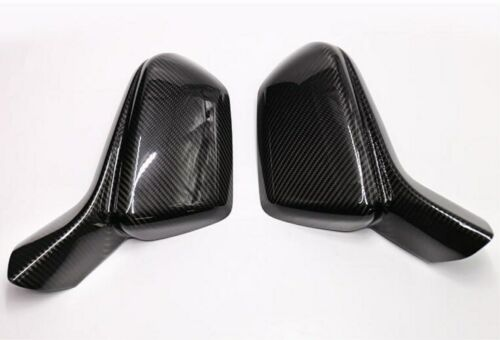 FIT For Chevrolet Camaro 16-19 Carbon Fiber Outer Rearview Mirrors Cover Trim*2