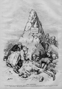 GREAT EXPECTATIONS POLITICAL ELECTIONS HORACE GREELEY CARL SCHURZ BY THOMAS NAST