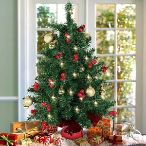 image is loading table top decorated christmas tree battery operated small - Battery Lighted Christmas Decorations