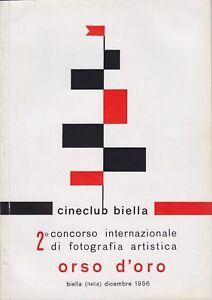 2° concorso internazionale di fotografia artistica, Orso d'oro, Biella, 1956