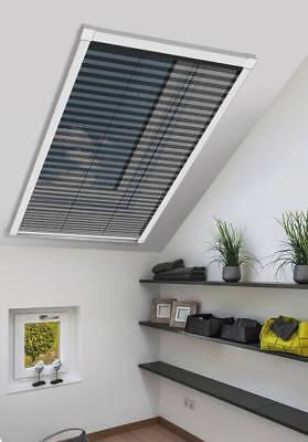 schellenberg insektenschutz plissee f r dachfenster 114 x 160 cm in wei ebay