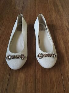 29a6d6d43 Image is loading Christian-Dior-Ballet-Flats-Womens-Shoes-White-Sz-
