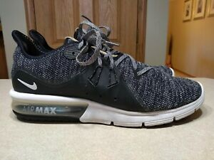 Nike-Air-Max-Sequent-3-Mens-Athletic-Shoes-Size-11-5-Black-Gray-921694-Running