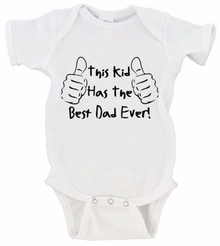 This Kid Has The Best Dad Ever Father/'s Day Onesie Short Sleeve Long Sleeve