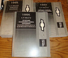 1995 Chevrolet GMC S/T Truck Shop Service Manual + Diagnosis + Supplement 95