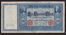 1908 Reichsbank Germany 100 Mark paper money bank note