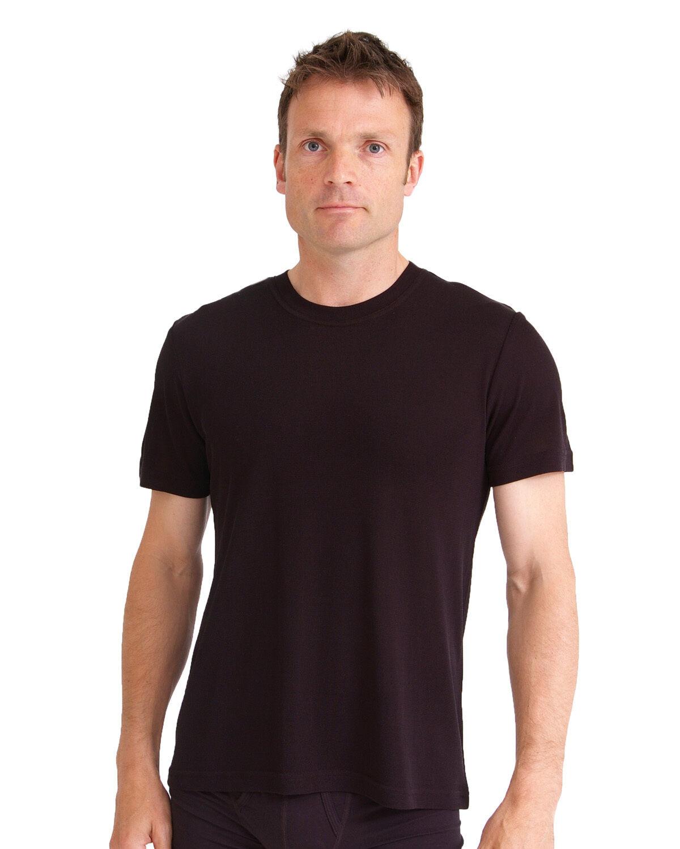 Bnwt Da Uomo A Maglia Seta T-Shirt Girocollo