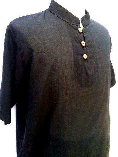 New Men/'s T-Shirt  100/% Cotton  Black Thai Hippie Shirt  Yoga Casual Beach 2XL