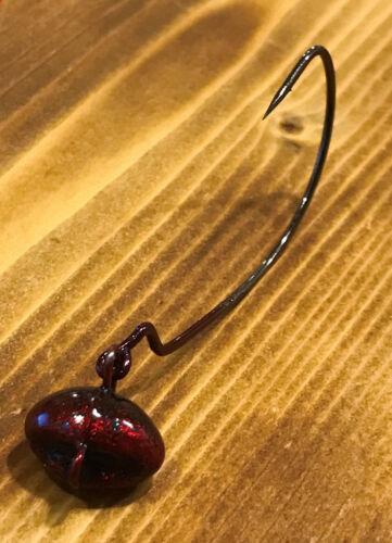5pk 1//8oz Redbug Money Maker Football Swing Jig biffle head 4//0 Gamakatsu Hook