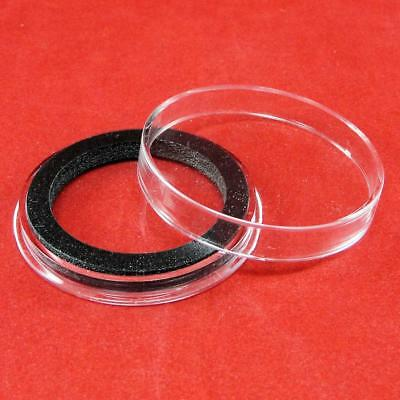 Red Capsule Tube /& 10 Air-Tite High Relief 38mm Black Ring Coin Holders for 2oz Queens Beast