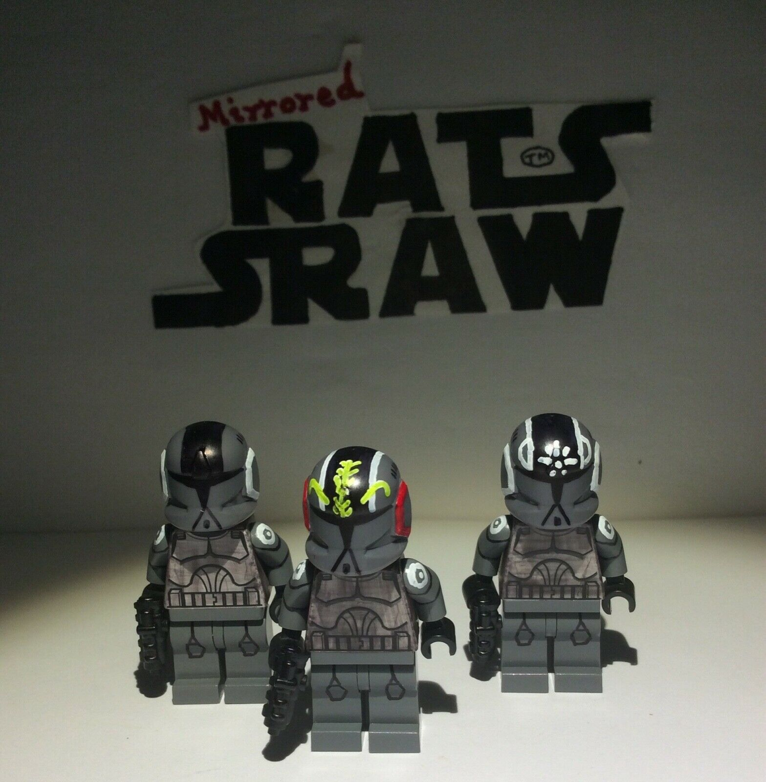 Lego Star Wars minifigures - Clone Custom Troopers - Stealth Pilot set SPECIAL