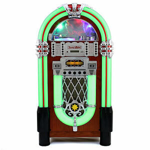 Jukebox Vintage 1950s Retro Stereo Cd Player Fm Radio Aux