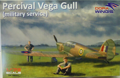 Plastik NEU Dora Wings 1:72 Percival Vega Gull Military Service
