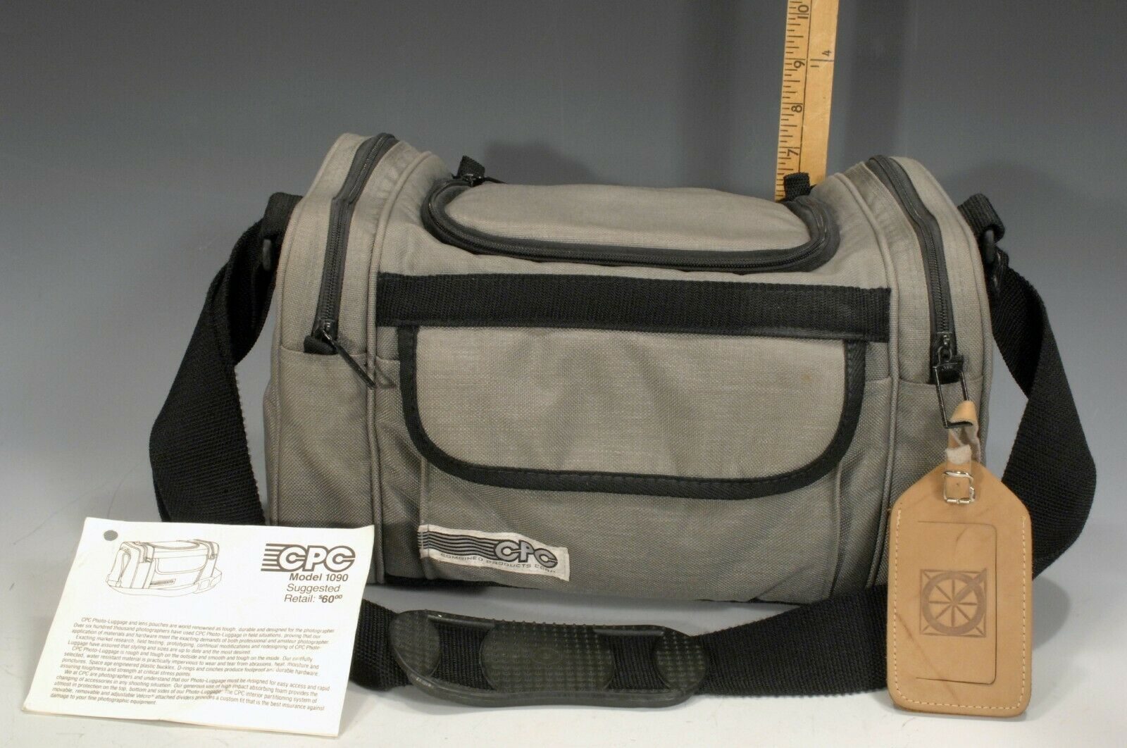 CPC Caribou Series Gray Camera Bag with Adjustable Strap Model 1090 Barely Used