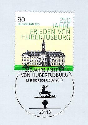 Der GüNstigste Preis Brd 2013: Frieden Von Hubertusburg Nr 2985 Mit Bonner Ersttags-sonderstempel! 1a