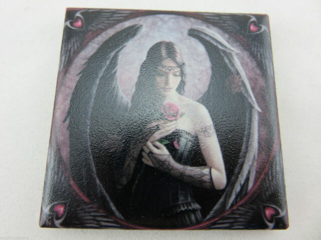"Anne Stokes Fantasy ""Angel Rose"" 6 x 6 Ceramic Magnet"