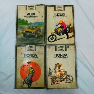 Vintage-Lot-Of-4-Clymer-Publications-2-Honda-Suzuki-Audi-1960s-1970s