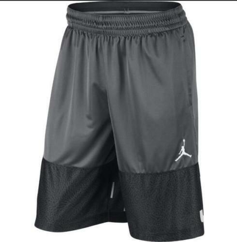 e2073dd4f7a Nike AJ Air Jordan Blockout Basketball Shorts Dri Fit Aj6559 021 Regular S  Gray for sale online | eBay