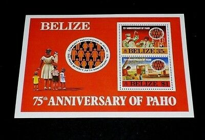 1977 Pan-american Health Org. Nice Lqqk Catalogues Will Be Sent Upon Request Belize #394a Souvenir Sheet Mnh