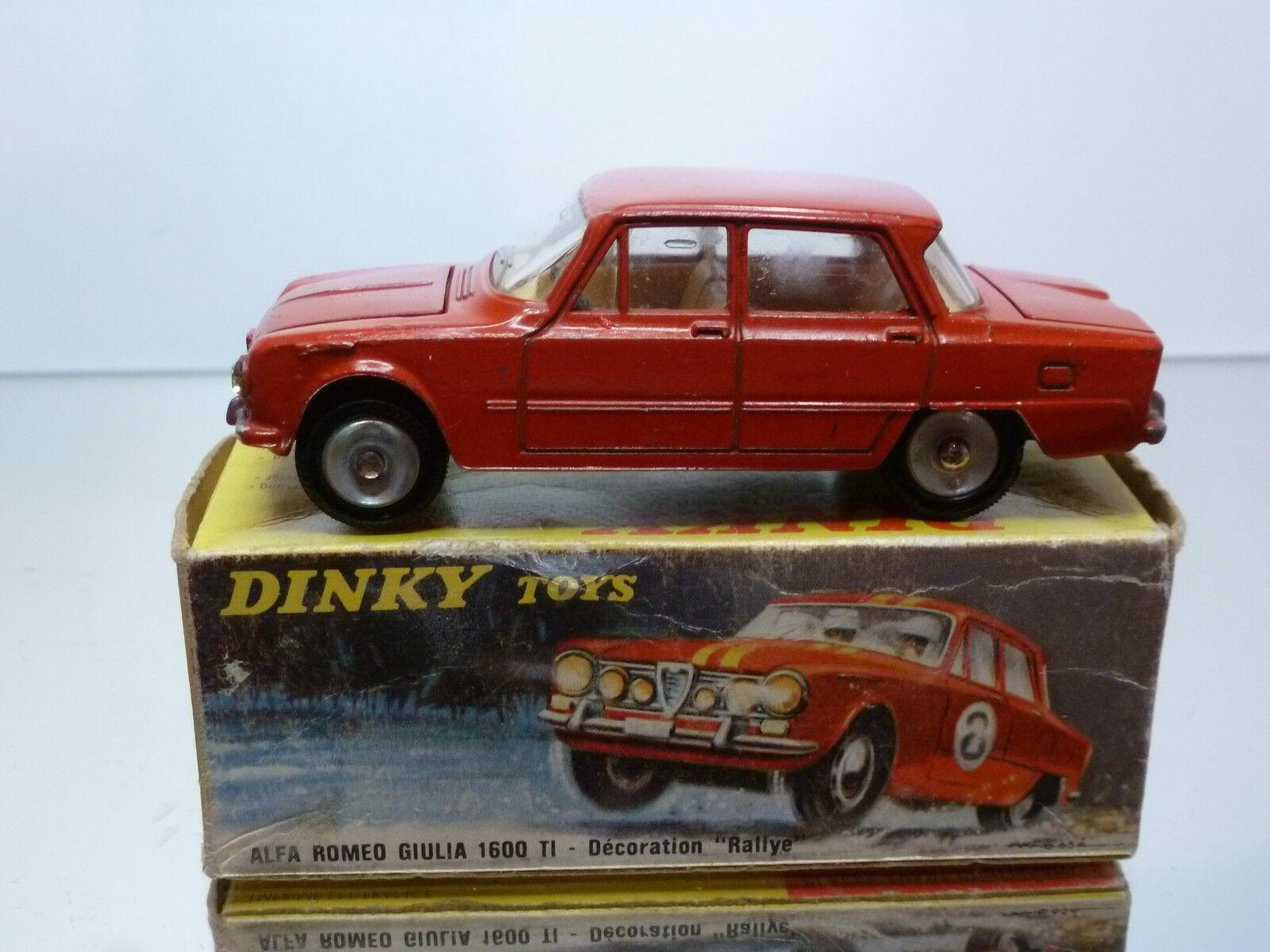 DINKY TOYS 1401 ALFA ROMEO GIULIA 1600 TI - rot 1 43 - GOOD CONDITION IN BOX