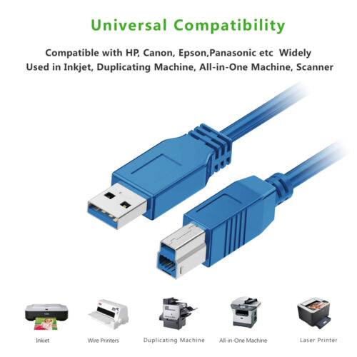 USB 3.0 cable USB 3.0 Type A male to B male printer extension cable 3ft 6ft 10ft