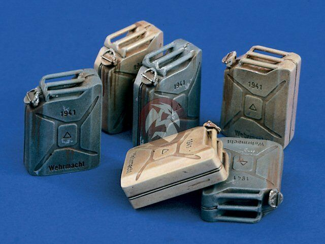 Verlinden 120mm (1 16) German Wehrmacht 20 Liter Jerrycans WWII (6 pieces) 940