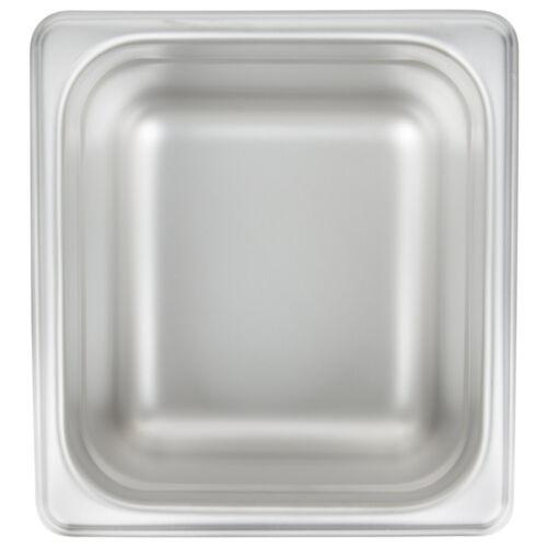 "12 PACK 1//6 Size Stainless Steel Steam Prep Table Hotel Food Insert Pan 4/"" Deep"